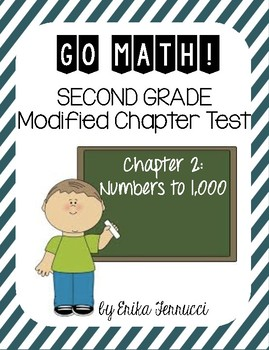 Modified GoMath Test - Grade 2, Chapter 2