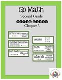 Go Math Chapter 3 Second Grade Vocab Cards