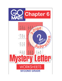 Go Math Second Grade: Chapter 6 Supplement - 3-Digit Subtraction. Mystery Letter