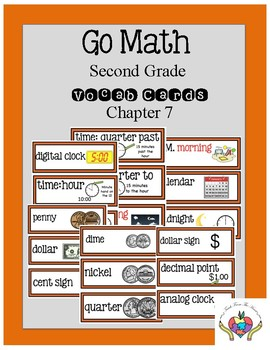 Go Math Chapter 7 Second Grade Vocabulary Cards