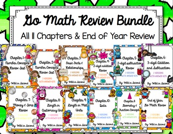 Go Math Second Grade Chapter Review Bundle
