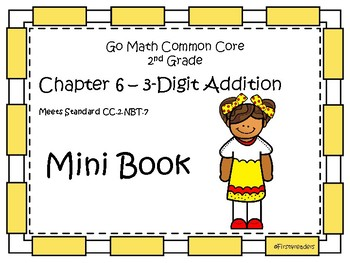 Go Math Second Grade Chapter Six Mini Book By First4readers Tpt
