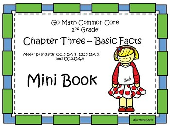 Go Math Second Grade Chapter Three Mini Book By First4readers Tpt