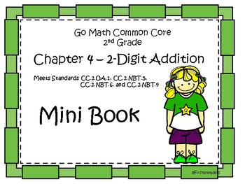 Go Math Second Grade Chatper Four Mini Book By First4readers Tpt