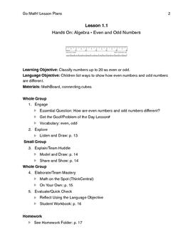 Go Math - Second Grade Lesson Plans - Chapter 1
