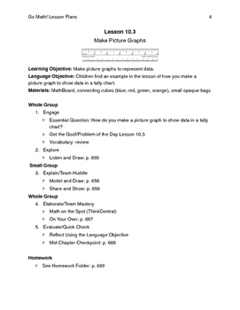 Go Math - Second Grade Lesson Plans - Chapter 10