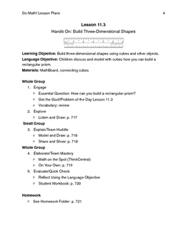 Go Math - Second Grade Lesson Plans - Chapter 11