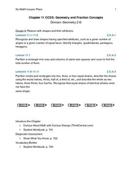 Go Math - Second Grade Lesson Plans - Chapter 11