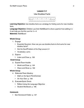 Go Math - Second Grade Lesson Plans - Chapter 3