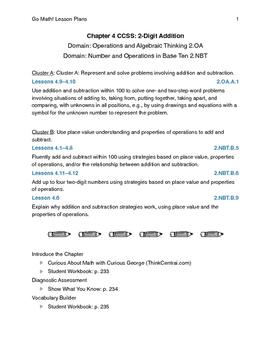 Go Math - Second Grade Lesson Plans - Chapter 4