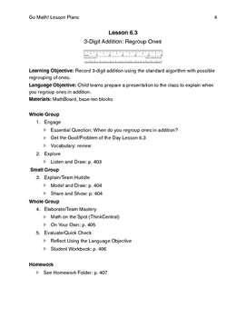 Go Math - Second Grade Lesson Plans - Chapter 6