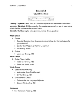 Go Math - Second Grade Lesson Plans - Chapter 7