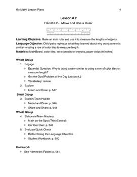 Go Math - Second Grade Lesson Plans - Chapter 8