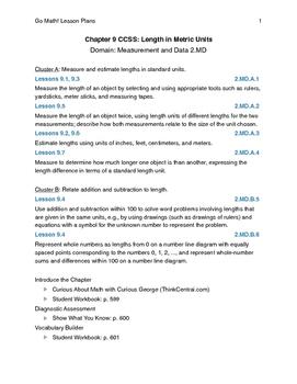 Go Math - Second Grade Lesson Plans - Chapter 9