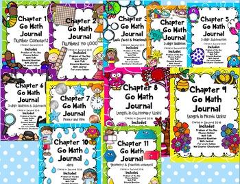 Go Math Second Grade Math Journal Bundle!
