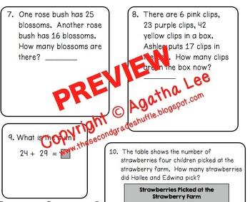 Go Math! Second Grade Study Pack for Chapter 4- Two-Digit Addition