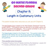 Go Math! Second Grade Study Pack for Chapter 8: Length