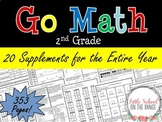 Go Math Second Grade Supplements for the ENTIRE YEAR Bundle