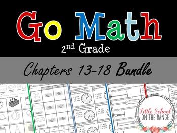 Go Math Second Grade: Unit 3 BUNDLE - Chapters 13 through 18