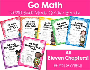 Go Math Study Guide Yearly Bundle
