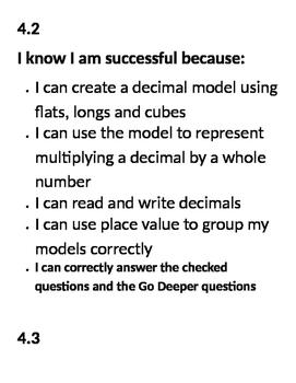Go Math Success Criteria Chapter 4