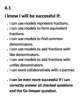 Go Math Success Criteria Chapter 6