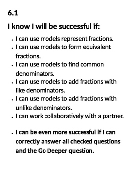 Go Math Success Criteria Chapter 6