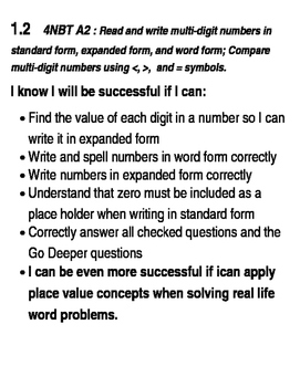 Go Math Success Criteria Grade 4  Complete Chapters 1 - 13