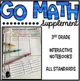 Go Math Supplement - 3rd grade Interactive Notebook Bundle