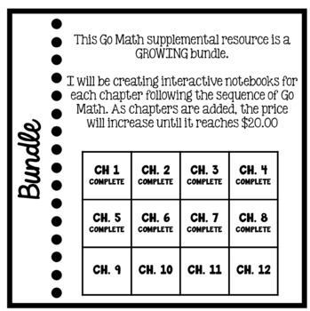 Go Math Supplement - 3rd grade Interactive Notebook Bundle