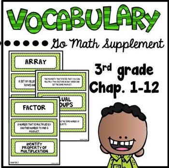 Go Math Supplement - 3rd grade Vocabulary Cards
