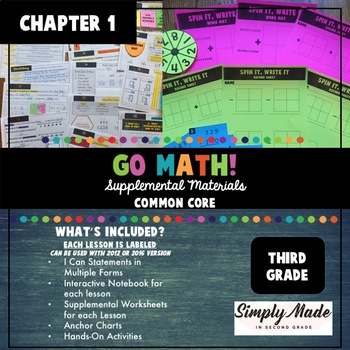 Go Math Supplemental Resources Chapter One Third Grade Common Core