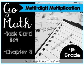 Go Math Task Cards Multi-Digit Multiplication