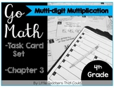 Go Math Task Cards Multi-Digit Multiplication