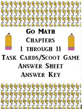 Go Math Task Cards / Scoot Review Bundle for ALL Chapters