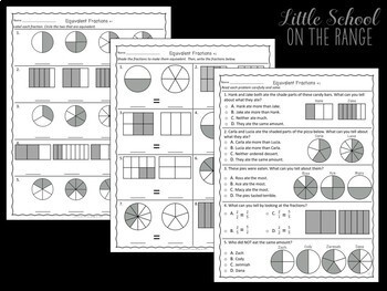 Go Math 3rd Grade: Chapter 3  Supplement - Comparing Fractions