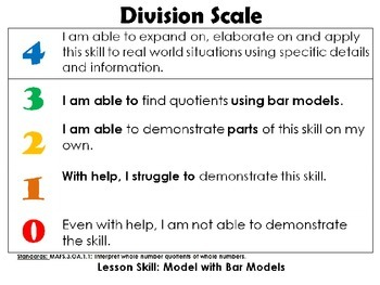 Go Math Third Grade Chapter 6 Lesson Learning Scale