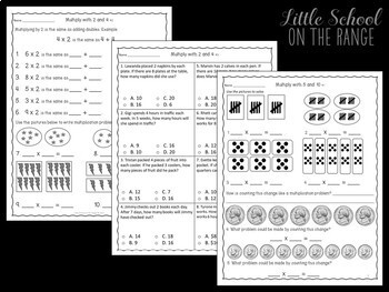 Go Math Third Grade: Chapter 7 Supplement - Multiplying by 2,3,4,5,6,and 10