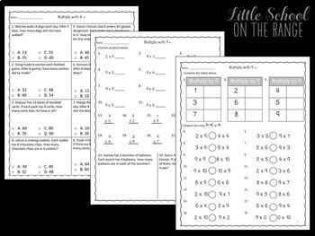 Go Math Third Grade: Chapter 8 Supplement - Multiplying by 7, 8, and 9
