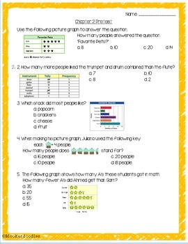Go Math! 3rd Grade Chapters 1-12 PRETESTS with Keys!