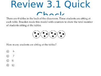 Go Math Third Grade Chapters 1-6 Power Points Bundle