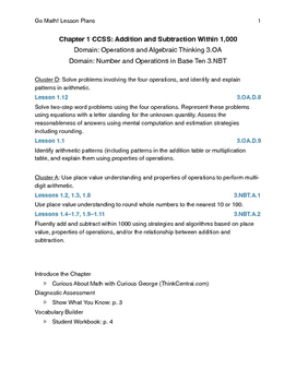 Go Math - Third Grade Lesson Plans - Chapter 1