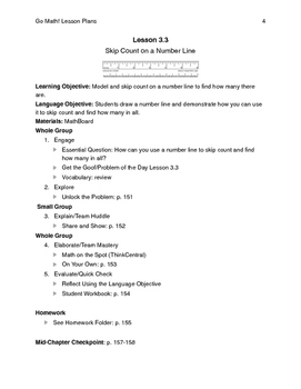 Go Math - Third Grade Lesson Plans - Chapter 3