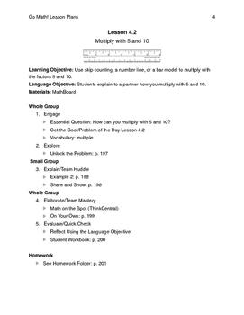 Go Math - Third Grade Lesson Plans - Chapter 4