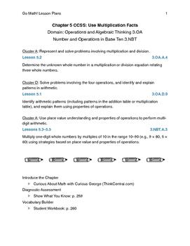 Go Math - Third Grade Lesson Plans - Chapter 5