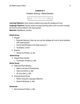 Go Math - Third Grade Lesson Plans - Chapter 6