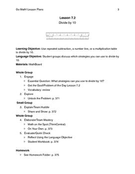 Go Math - Third Grade Lesson Plans - Chapter 7