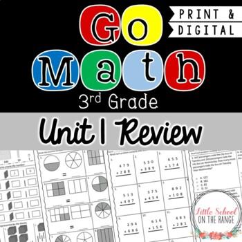 Go Math Third Grade: Unit 1 Review FREEBIE