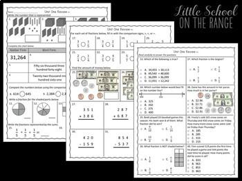 Go Math Grade 3: Unit 1 Review FREEBIE