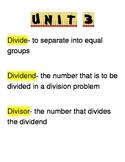 Go Math Third Grade Vocabulary Unit 3